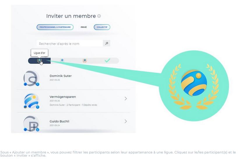 inviter un membre