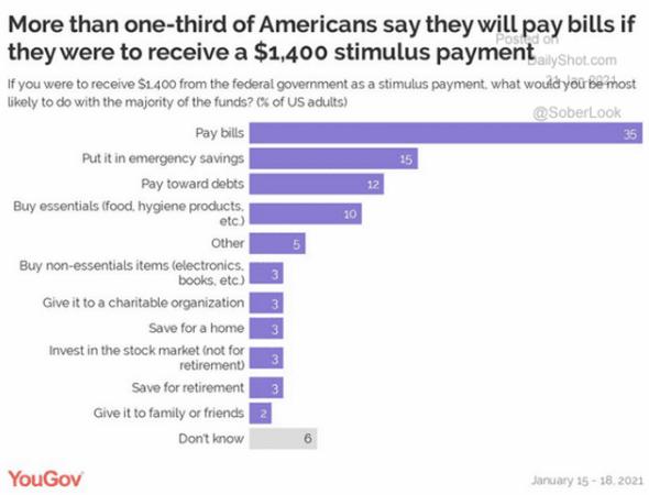 Utilisation du chèque aux ménages américains